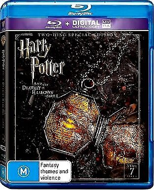 HARRY POTTER AND THE DEATHLY HALLOWS Part 1 New Blu-Ray 2 Disc DANIEL RADCLIFFE