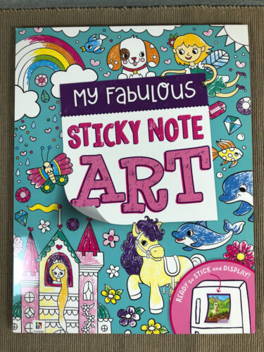 Brand New Hinkler My Awesome Sticky Note Art Girls Soft Cover Colouring A4 Pad