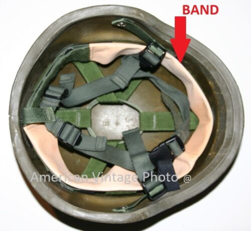 Helmet Liner Band Head Strap for PASGT M1 Steel Pot Military Army USMC & P38Hats & Helmets - 36068