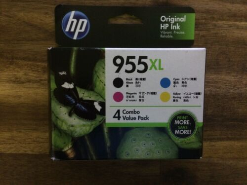 4 Pack HP 955XL Genuine High Yield Inkjet Combo [1BK,1C,1M,1Y] Express Delivery