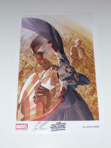 2015 SDCC CAPTAIN AMERICA ART PRINT by ALEX ROSS SIGNED 11x17