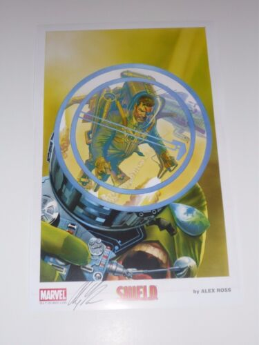2015 SDCC SHIELD ART PRINT by ALEX ROSS SIGNED 11x17