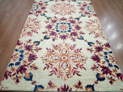 India Handmade Tufted 150x240 5x8 Modern Wool Thick Carpet Area Rug Teppich