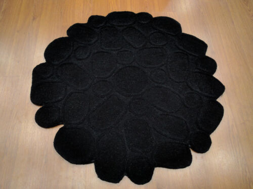 Indian Handmade Tufted 3' 120 Cm Thick Soft Round Modern Wool Carpet Area Rug