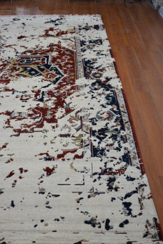 Indian Traditional Hand Knotted 9x12 270x360 Oriental Wool Pile Carpet Area Rug