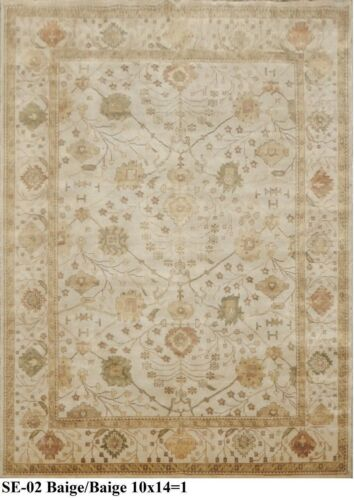 India Hand Knotted 10x14 300x420 Oushak Persian Oriental Wool Carpet Area Rug