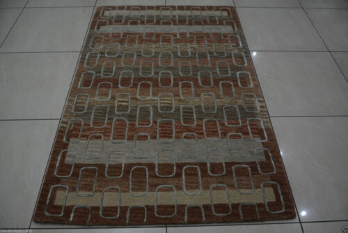 Indian Hand Tufted 120x180 4x6 Wool Art Silk Soft Thick Carpet Area Rug Teppich