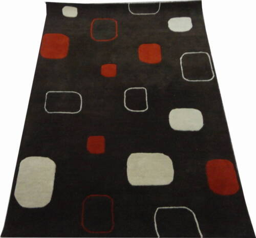 Indian Hand Tufted 140x200 4.6x6.6 Wool Art Silk Thick Carpet Area Rug Teppich