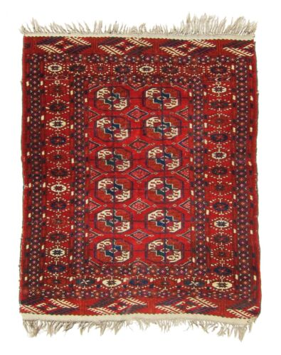 TOP EXAMPLE, SUPERB, LOVELY, ANTIQUE, 19th TURKOMAN SMALL RUG . DEHATI.1
