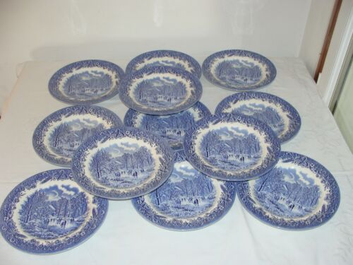 SUPERBE 12 PETITES ASSIETTES A DESSERT ESTAMPILLE MADE IN ENGLAND PERSONNAGES