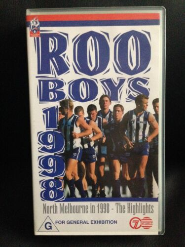 ROO BOYS 1998 THE HIGHLIGHTS~ KANGAROOS ~ NORTH MELBOURNE~ OFFICAL AFL VHS VIDEO