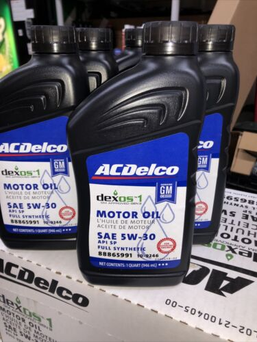 GM AC Delco Set of 6 Motor Oil 6 QT 33 oz. SAE 5W-30 Full Synthetic Dexos 1 OES