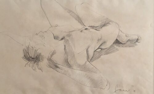 Original Nude Pencil  rendering by (refer signature).