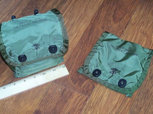 2 Pack Medic Pouch Military USMC Army First Aid Bag Case ALICE MOLLE w P38 Pouches - 70991