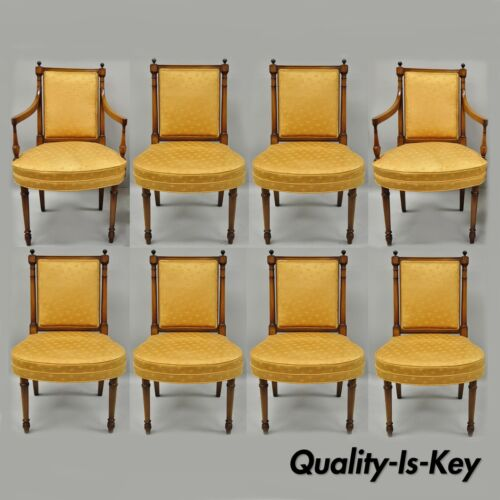8 Maslow Freen  French Empire Directoire Style Mahogany Dining Chairs