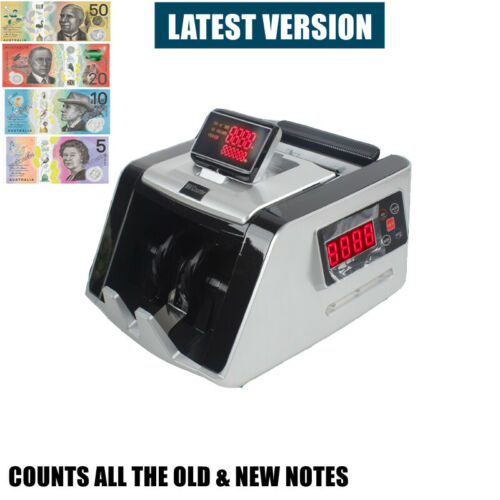 AUSTRALIAN NOTE COUNTER MONEY CASH COUNTING MACHINE AUTOMATIC BANKNOTE DIGITAL
