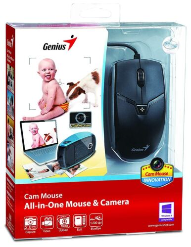USB Genius 1200DPI Optical Mouse with Built-in 2.0MP 720P HD Camera