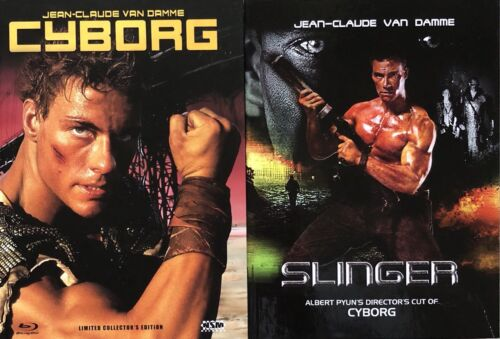 Jean Claude Van Damme CYBORG / SLINGER Blu Ray & DVD Mediabook, 2 Disc, 3 Discs <br/> NUMBERED & LIMITED to only 333 & 999 pcs WORLDWIDE !!!