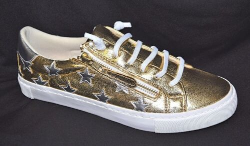 TS shoes TAKING SHAPE sz 6 / 37 Hollywood Star Sneakers wide fit gold/silver NIB