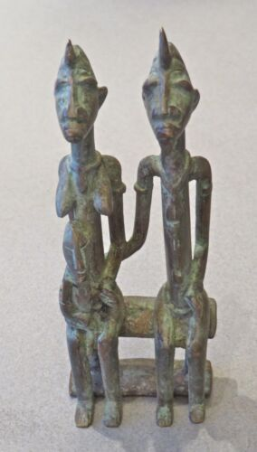 Vintage, Dogon, Mali Cast Bronze Primordial Couple/5 1/2H""