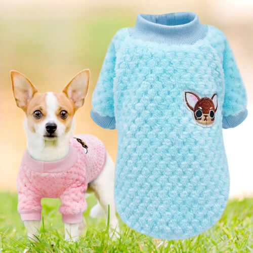 Cozy Plush Padded Cat Dogs Sweater Dog Clothes Winter Puppy Small Cat Dog Jumper