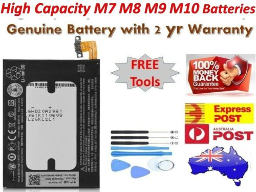 New OEM Replacement Battery For  HTC One HTC M7 HTC M8 HTC M9 M10 + Tools AUSSIE