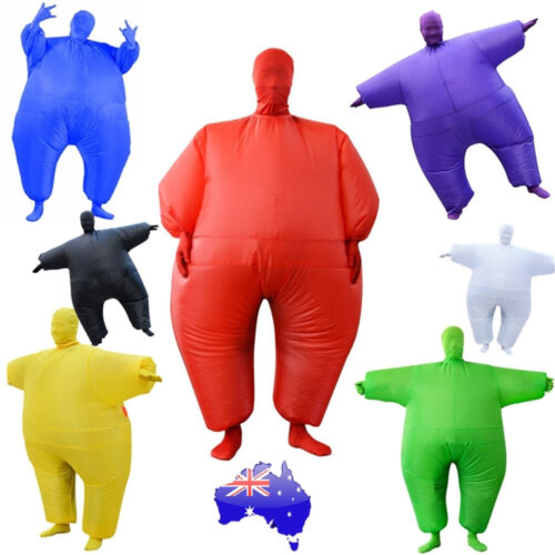 Fan Operated Inflatable Fancy Chub Fat Masked Suit Sumo Costume Blow Up Dress