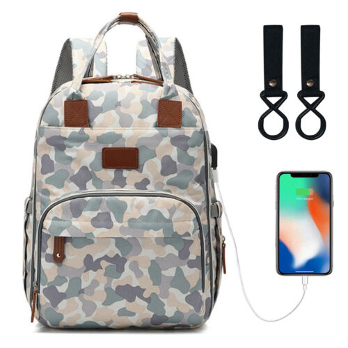 2018 Baby Diaper Bag backpack USB Interface Large Capacity Waterproof Nappy bag