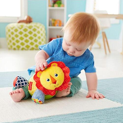 Fisher-Price ROLY-POLY LION Fun Newborn Baby Toy Soft Cuddly Jingly Rattle