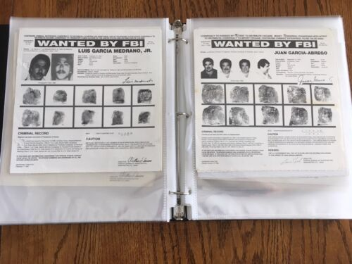 *VERY RARE* COLLECTION OF 175 FBI WANTED POSTERS FROM THE 1990'S *PLS OFFER*