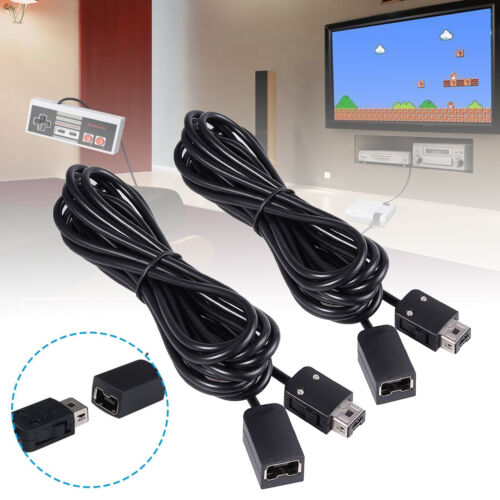 2 Pack 3M Extension Cable For Nintendo Classic NES Mini / SNES Controller Wii U