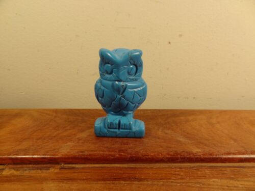 Natural Turquoise Carving Owl