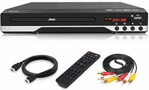 Lettore DVD HDMI USB Display DVD CD MP3 Divx Telecomando Multilingua