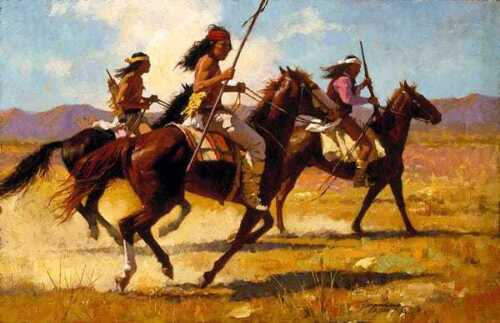 Howard TERPNING Light Cavalry Signed & Numbered Limited Edition Native Canvas