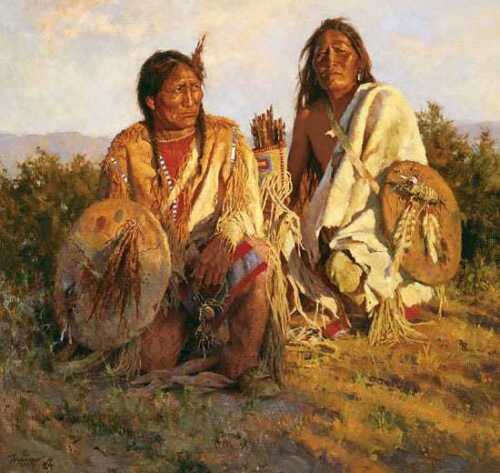 Howard TERPNING Medicine Shields of the Blackfoot Signed & Numbered Canvas Art