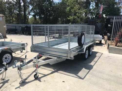 "12x6 TANDEM AXLE CAGE TRAILER | 900mm CAGE | FULL CHECKERPLATE | 12"" HIGH SIDES"