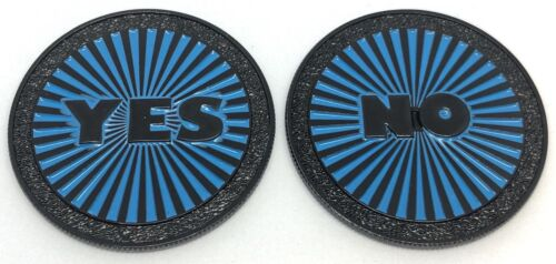Yes Or No Coin #4, Make A Decision, 42mm Wide, You Get 1 X Coin With Two Sides