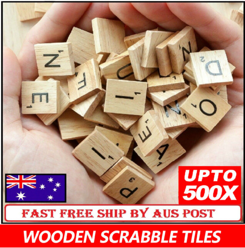 500pcs Wooden Letters Alphabet Scrabble Tiles Letters & Numbers For Game &Crafts