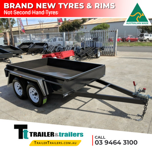 8x5 STANDARD TANDEM BOX TRAILER | FIXED FRONT | BRAND NEW TYRES | SMOOTH FLOOR