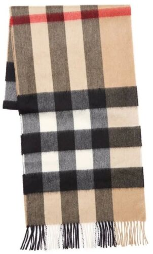 ef539a0beaa8 Burberry Large Mega Classic Check 100% Cashmere Scarf Made in Scotland  4031079