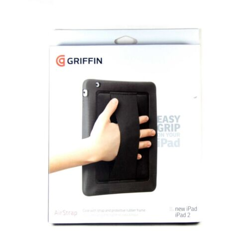 GRIFFIN CASE FOR IPAD 4 3 2 AIRSTRAP HANDSTRAP NEOPRENE CONTOURED EDGES GB03814