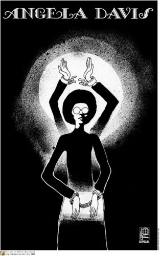 Political OSPAAL POSTER.Free Angela Davis.American Civil Right Black Panthers.21