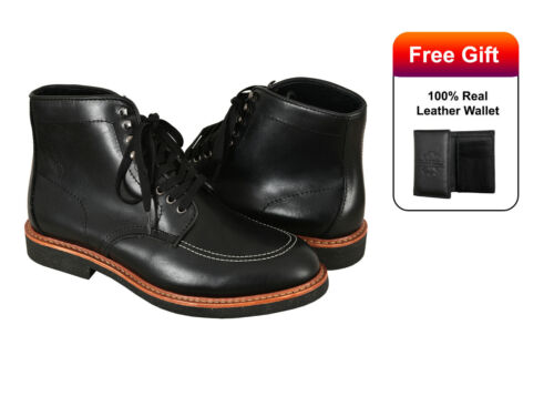 Indy Boots Indiana Jones Movie Inspired Real Leather Black High Ankle Boots <br/> Harrison Ford Indiana Jones Movies Boots Reproduction