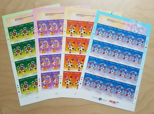2012 Malaysia Series ll Malaysian Unity 80v Stamps on 4 Full Sheets (Sheetlets)