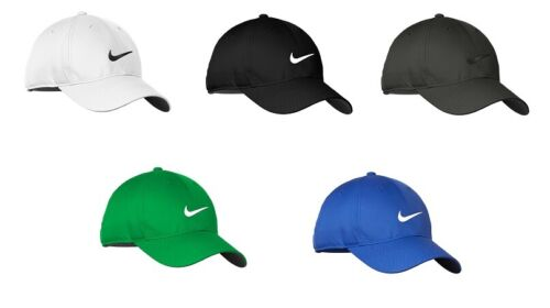 aa4533d68c0e91 New with tags NEW NIKE HAT-BLACK WITH WHITE SWOOSH-DRI-FIT-BASEBALL CAP-ADJUSTABLE  HATS