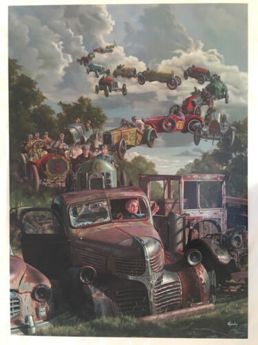 Bob Byerley 'Checkered Flag' very rare S/N limited release canvas print-children