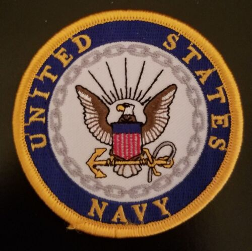 US NAVY 3 INCH ROUND PATCH - NEW DESIGN - MADE IN THE USA!Navy - 48826