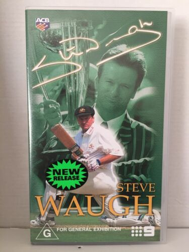STEVE WAUGH ~ AUSTRALIAN CRICKET TEAM CAPTAIN ~ BRAND NEW & SEALED VHS VIDEO