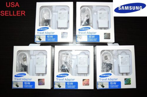 5x Samsung Travel Adapter Fast Adaptive 15W Wall Charger for Galaxy S7 S6 S5 S4