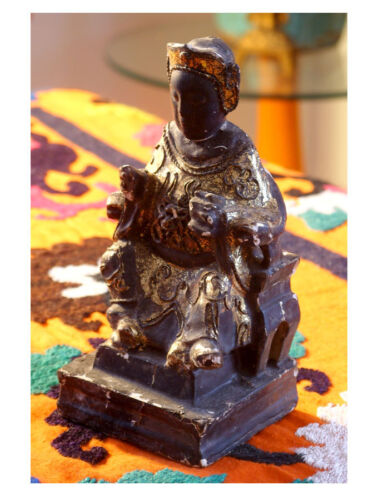 Sale of Black Chinese Emperor Temple Figure was $199 now $149